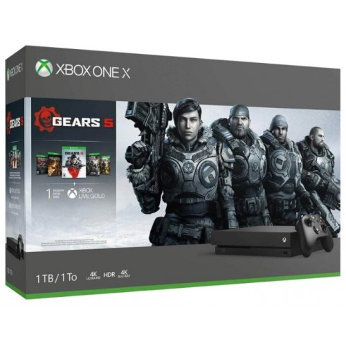 XBox One S 1 ТБ + GEARS 5,4,3,2,+ Gears of War Ultimate + XboxLiveGold 1м.+ Game Pass 1м (234-01030)