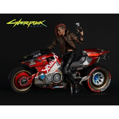 Фигура  Cyberpunk 2077 V Female + Мотоцикл Yaiba Kusanagi CT3-H