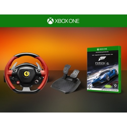 Руль Ferrari 458 Spider Racing Wheel (Xbox One) + Forza Motosport 6 (Xbox One)