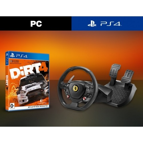 Руль Ferrari 488 GTB Edition (PC / PlayStation) + Dirt 4 (PS4) (PC)
