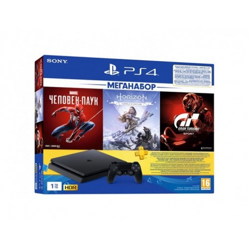 Sony PS4 1TB + Horizon Zero Dawn + Spider-Man + GTS
