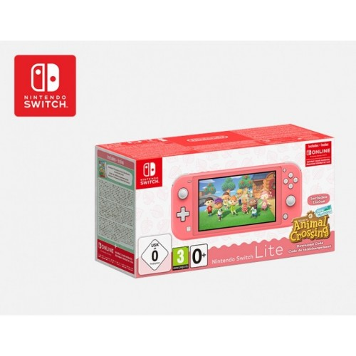 Nintendo Switch Lite (кораллово-розовый)+Animal Crossing: New Horizons+NSO (3 месяца)