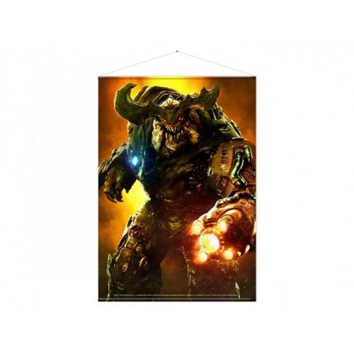 Тканевый постер Doom Cyber Demon