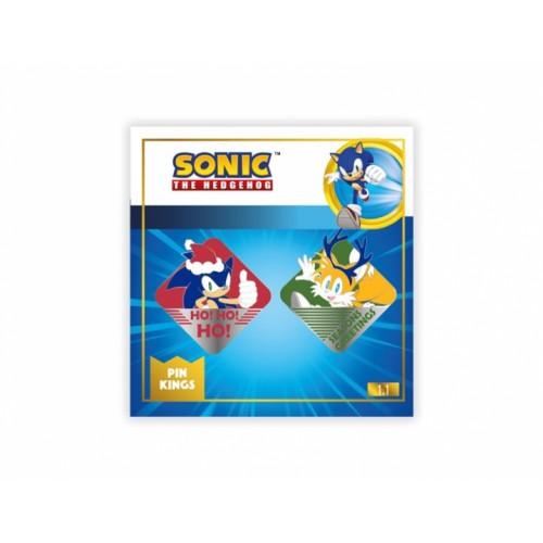 Значок Pin Kings Sonic the Hedgehog Modern Christmas 1.1 (набор из 2 шт.)