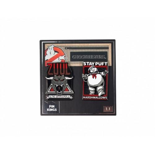 Значок Pin Kings Охотники за привидениями 1.1 Зуул и Стэй Пафт (набор из 2 шт.)