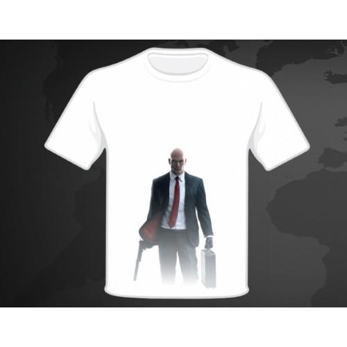 Подарок: футболка - Hitman - белая с Хитманом (M)